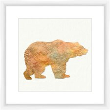 Watercolor Bear Framed Graphic Art