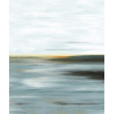 Traditional Horizon Framed Painting Print on Wrapped Canvas