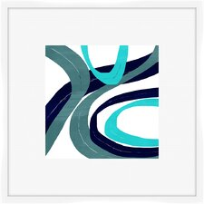 Circles and Curves I Framed Graphic Art