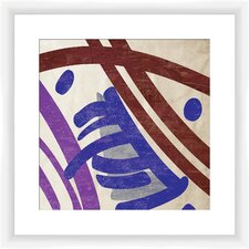Painted Pattern II Framed Painting Print