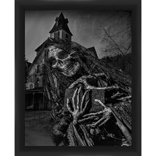Halloween Haunted House Framed Graphic Art