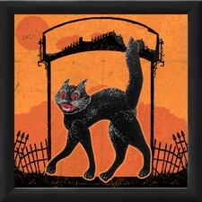 Halloween Cat Framed Graphic Art