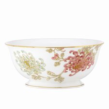 Painted Camellia Serving Bowl