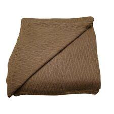 Herringbone Thermal Cotton Throw Blanket