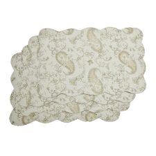 Reversible Quilted Floral Placemat (Set of 4)