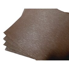 Reversible Faux Leather Embossed Dinning Room Placemat (Set of 4)