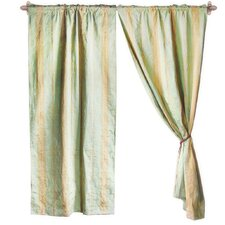 Jacquard Cotton Rod Pocket Curtain Panels (Set of 2)