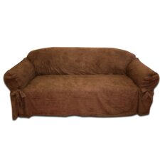Faux Suede Sofa Slipcover