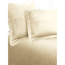 Luxury Cotton Sateen Diamond Coverlet