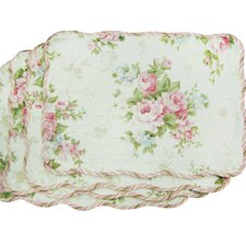 Quilted Spring Rose Placemat (Set of 4)