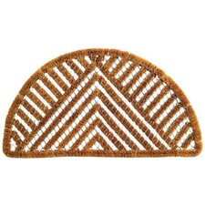 Twisted Spiral Semi Circle Triangle Doormat