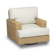 Leucadia Swivel Rocking Club Chair with Cushions