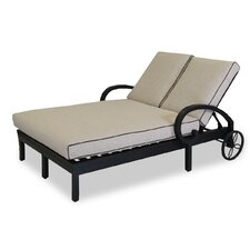 Monterey Double Chaise Lounge with Self Welt Cushions