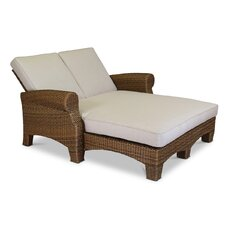 Santa Cruz Double Chaise Lounge with Self Welt Cushions