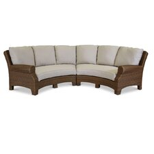 Santa Cruz 2 Piece Curved Sectional Set with Self Welt Cushions (Set of 2)