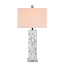 """32"""" H Mother of Pearl Table Lamp"""
