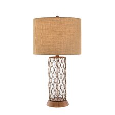 """32"""" H Table Lamp with Drum Shade"""