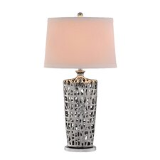 """34"""" H Table Lamp with Drum Shade"""