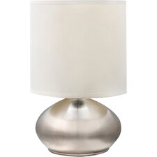 "4-Way Metal Touch 9.25"" H Table Lamp with Drum Shades (Set of 2)"