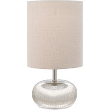 "Mercury Glass 12"" H Table Lamp with Drum Shade (Set of 2)"