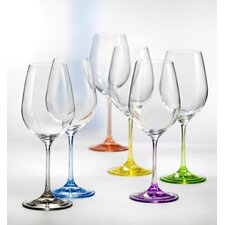 Rainbow All Purpose Wine Glass (Set of 6)