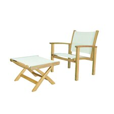 St. Tropez Club Chair with Ottoman