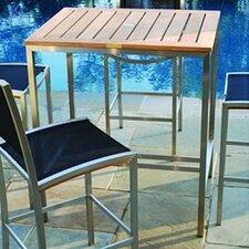 Tiburon Rectangular Bar Table with Electropolish Finish