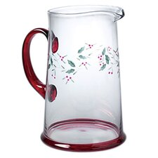 Winterberry Glass Water Pitcher