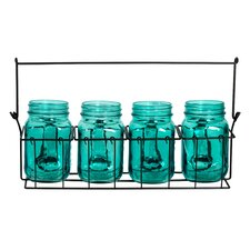5 Piece Mason Jar Tealight Holder Set