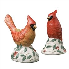 Winterberry Cardinal Salt & Pepper Set