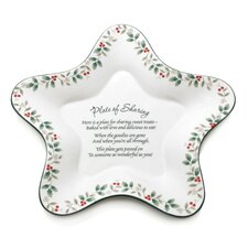 Winterberry Star Shaped Sharing Platter