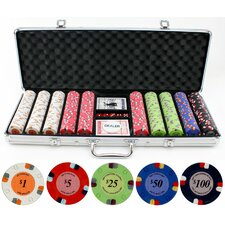 500 Piece Lucky Horseshoe Clay Poker Chips Set