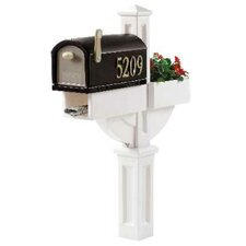 MailMaster Post Mounted Mailbox with Rain Overhang