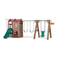 "88.5"" x 201"" Adventure Lodge Play Center Swing Set"