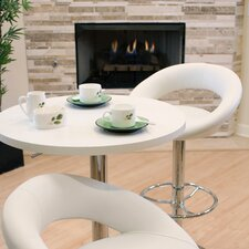 Adjustable Height Modern Swivel Bar Stool with Cushion