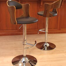 Cello Adjustable Height Swivel Bar Stool with Cushion