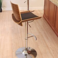 Vittorio Adjustable Height Swivel Bar Stool with Cushion