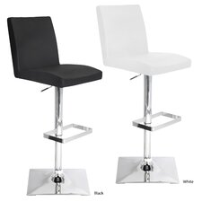 Captain Adjustable Height Swivel Bar Stool with Cushion