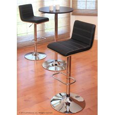 Vasari Adjustable Height Swivel Bar Stool with Cushion