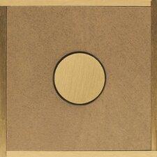 "Veranda Solids 3"" x 3"" Decorative Accent Tile in Brown/Beige"