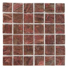 "Elemental 0.75"" x 0.75"" Glass Mosaic Tile in Copper Kettle"