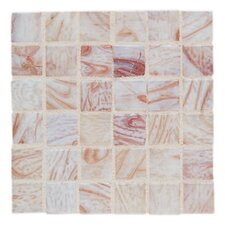 "Elemental 0.75"" x 0.75"" Glass Mosaic Tile in Conch Shell"
