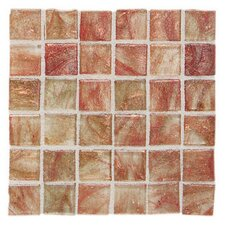 "Elemental 0.75"" x 0.75"" Glass Mosaic Tile in Cinnamon Stick"