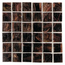 "Elemental 0.75"" x 0.75"" Glass Mosaic Tile in Rootbeer Float"