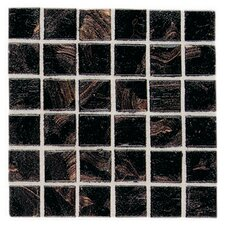 "Elemental 0.75"" x 0.75"" Glass Mosaic Tile in Obsidian"