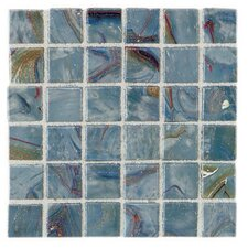"Elemental 0.75"" x 0.75"" Glass Mosaic Tile in Storm Clouds"