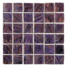 "Elemental 0.75"" x 0.75"" Glass Mosaic Tile in Grape Soda"