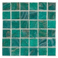 "Elemental 0.75"" x 0.75"" Glass Mosaic Tile in Blue Lagoon"