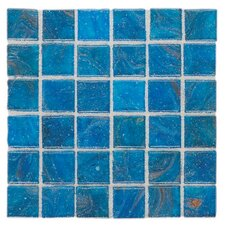 "Elemental 0.75"" x 0.75"" Glass Mosaic Tile in Curacao"