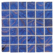 "Elemental 0.75"" x 0.75"" Glass Mosaic Tile in Blusette"